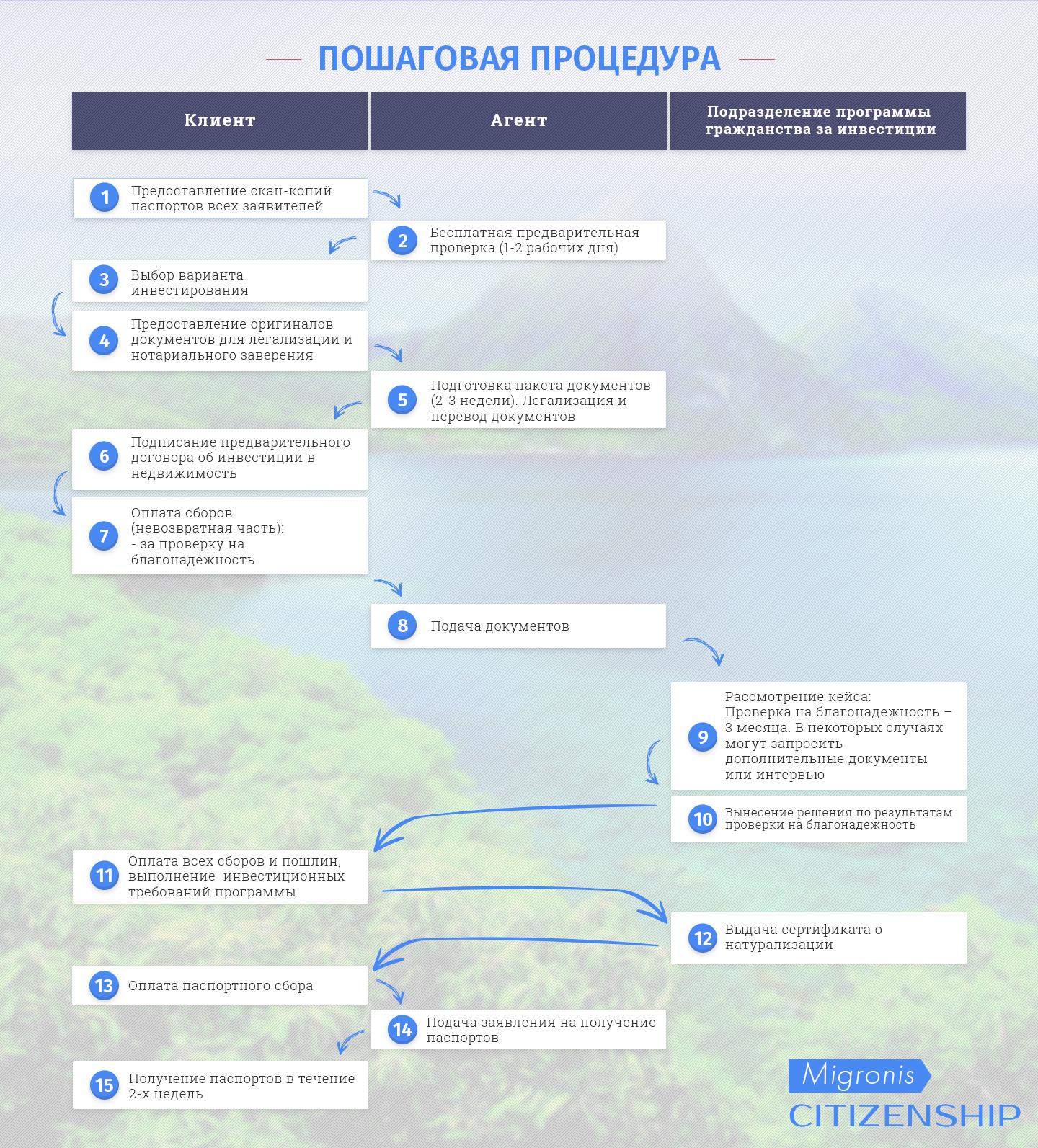 Пошаговая процедура оформления гражданства Сент Китс и Невис | Migronis