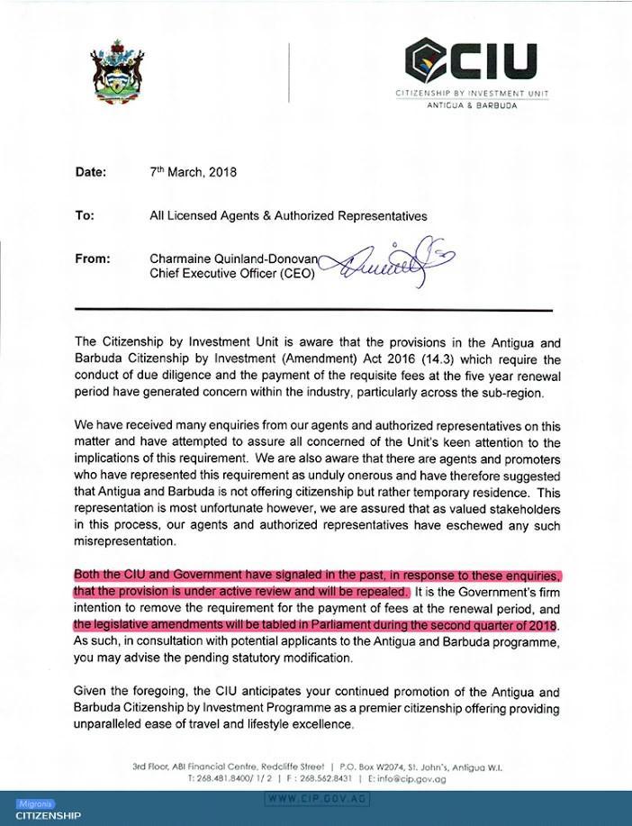 Гражданство Антигуа и Барбуды: важная информация о продлении паспорта | Migronis
