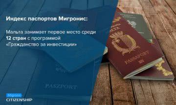 Паспорт Мальты занял 1 место в Индексе паспортов Мигронис