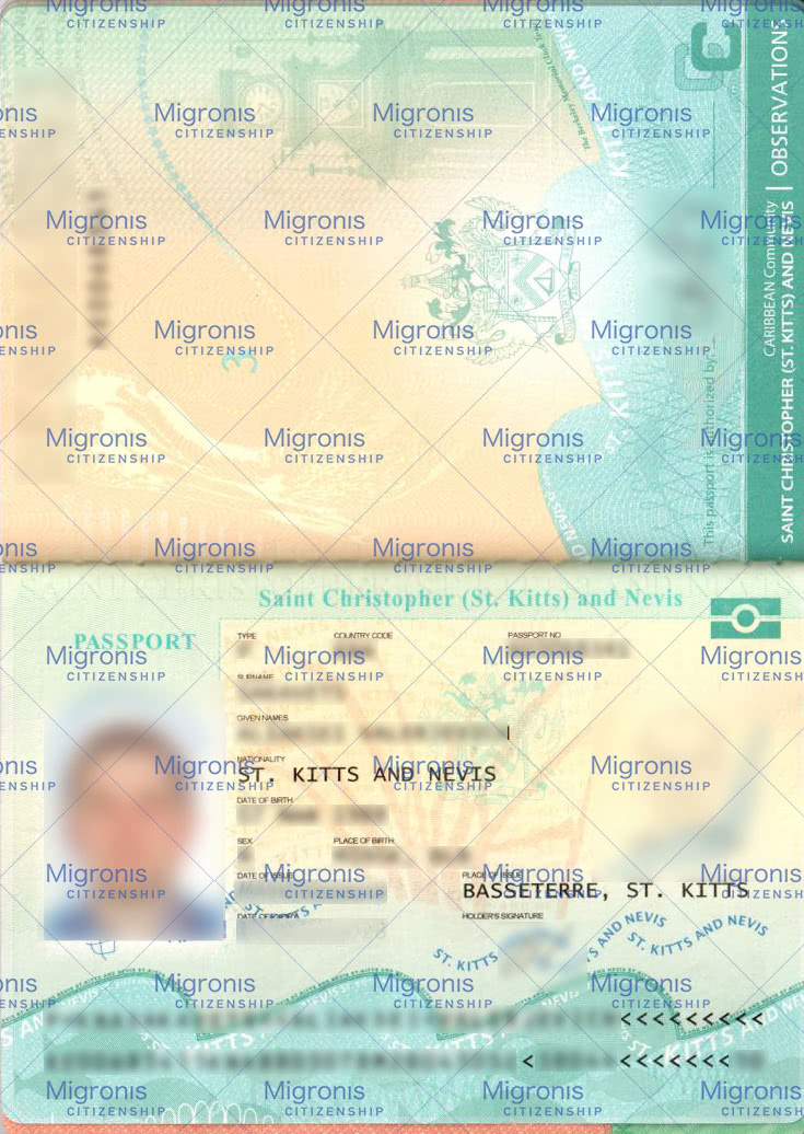 Saint Kitts and Nevis passport - Migronis