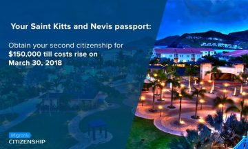Your Saint Kitts and Nevis passport: Second citizenship for $150,000 till March 30, 2018
