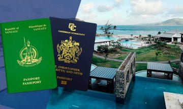 Паспорт Сент-Китс и Невис или гражданство Вануату:<br>