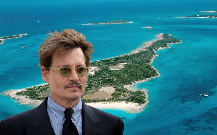 Johnny Depp purchased an island