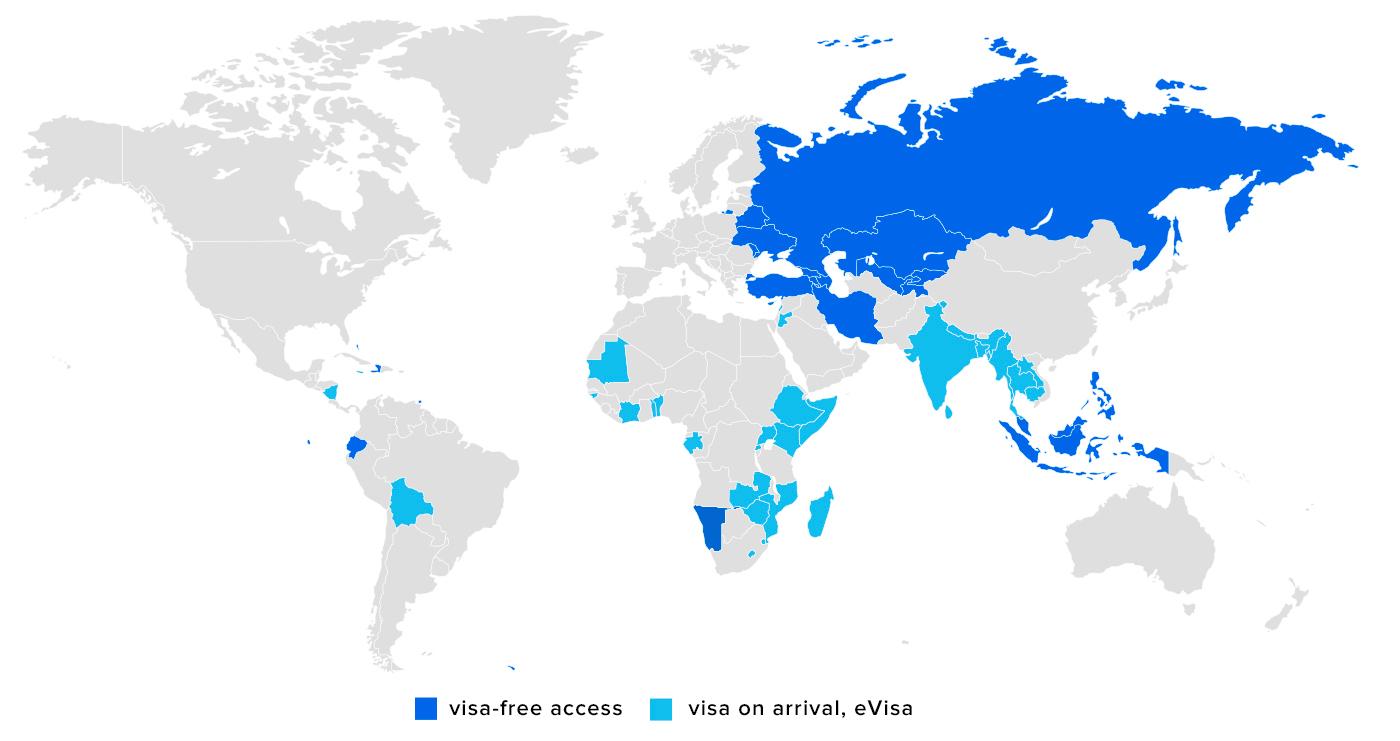 visa free access for Uzbekistan