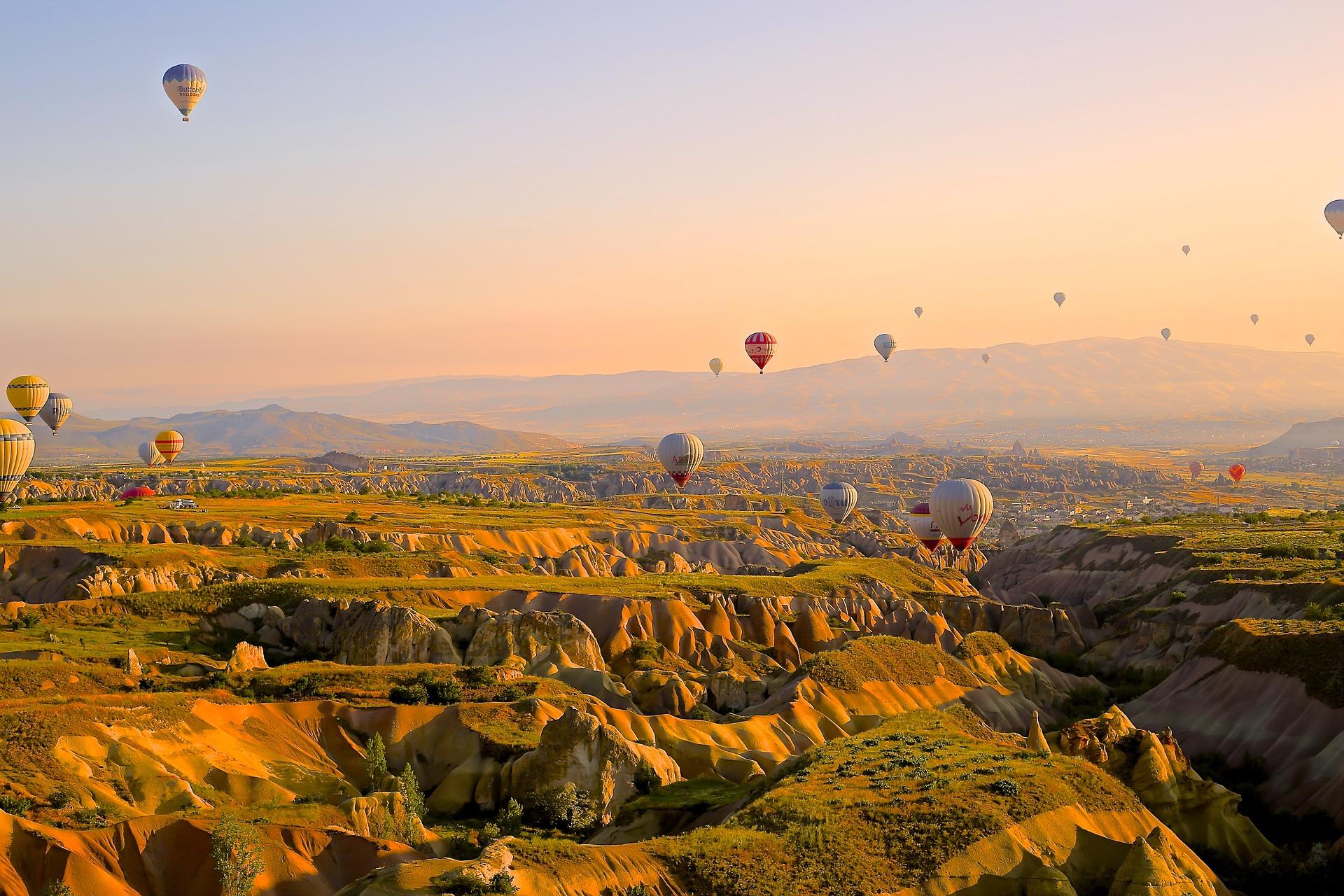 воздушные шары над Турцией